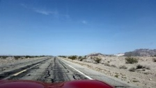 Section of Route 66 through desert