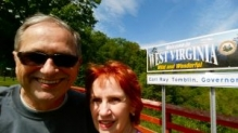 Dennis and Kaye at the West Virginia Welcome Center